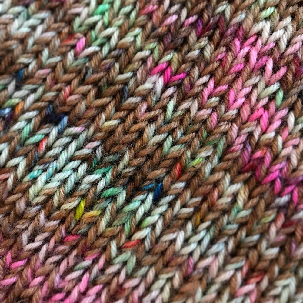Marled, two strands sock yarn