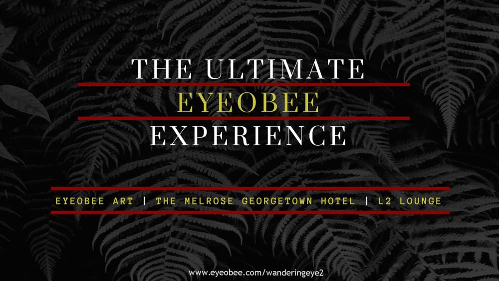 THE ULTIMATE EYEOBEE EXPERIENCE EYEOBEEART THE WANDERING EYE THE MELROSE GEORGETOWN HOTEL L2 LOUNGE GEORGETOWN DC
