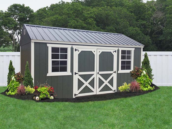 Painted sheds liberty storage solutions for Garden shed pictures
