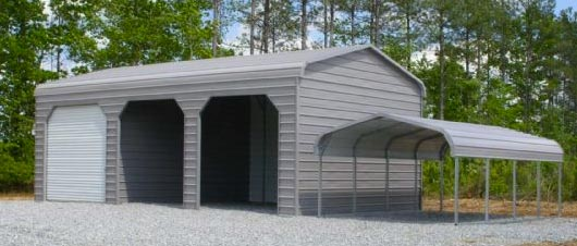 Bent Bow Enclosed Garage & Carport
