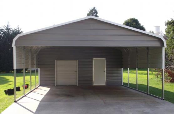 Bent Bow Carport Combo
