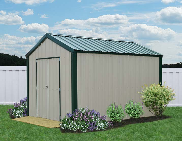 metal framing shed. Liberty-storage-metal-vs-utility-cream-green2-8x12. Metal Framing Shed