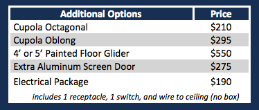 Vinyl Additional Options