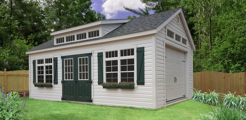Premier Garage with Transom Dormer
