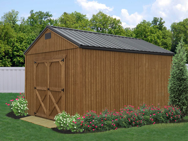 Treated wood sheds liberty storage solutions for Shed styles
