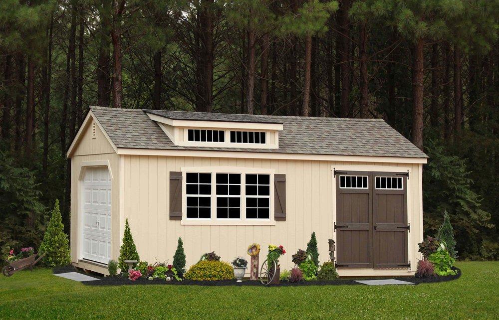 Southern Classic Garage & Transom Dormer
