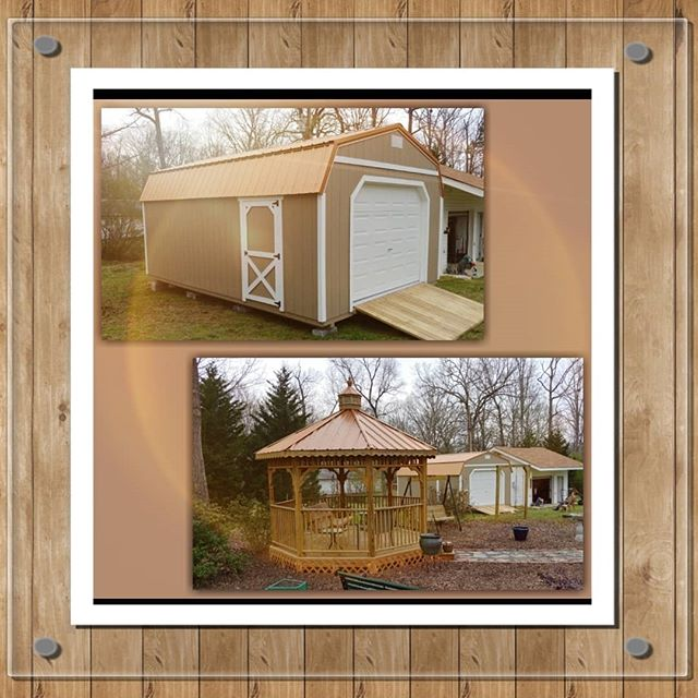 Happy Friday Y'all!! Take a look at this beautiful set up! I love the matching copper metal roofs!  Take advantage of this beautiful weather by stopping by and checking out our large inventory! We have sheds, barns, carports, garages, gazebos, and swingsets!  #harkeybarnsandmore  #libertystoragesolutions  #springfever  #gazebolife  #wegotyourstoragesolutions  #whatareyouwaitingfor