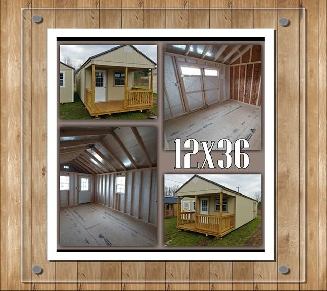 NEW on our lot 12x36 Painted Utility with Front Porch and Electrical Package! Has a partition wall that extends to roof height, with interior door. Built strong with Legacy Flooring!  Get FREE Delivery and Set-up within the first 30 miles from our location.  #harkeybarnsandmore  #libertystoragesolutions  #porchlife #yourgetawayplace #wegotyourstoragesolutions  #whatareyouwaitingfor