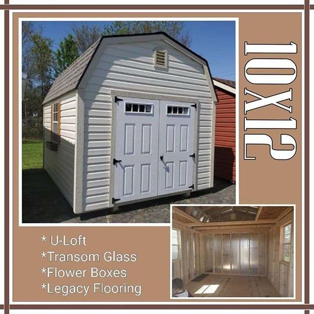 NEW on our lot! 10x12 Vinyl Lofted Barn. This barn has all the space you need with the additional loft space.  Built strong with Legacy flooring.  FREE delivery and set up for the first 30 miles from our lot.  Only $197 down with our rent to own program!  Call or stop by today!  #springishere #harkeybarnsandmore  #libertystoragesolutions  #whatareyouwaitingfor  #wegotyourstoragesolutions