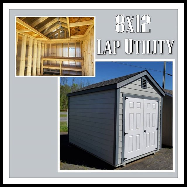 NEW on our lot! 8x12 Lap Utility with U-Loft, Workbench, & High Wall!  Contact me today to find out about our different financing options.  Free Delivery & Set Up within the first 30 miles.  #harkeybarnsandmore  #libertystoragesolutions  #builtstrongtolast  #workshop #whatareyouwaitingfor