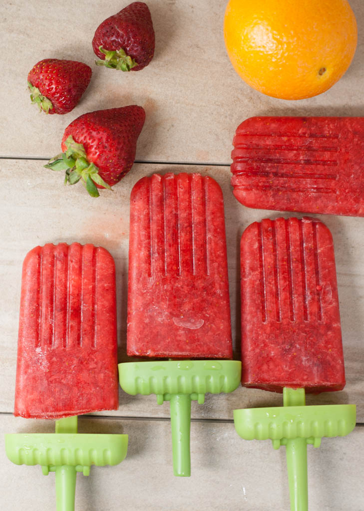 strawberry orange popsicle