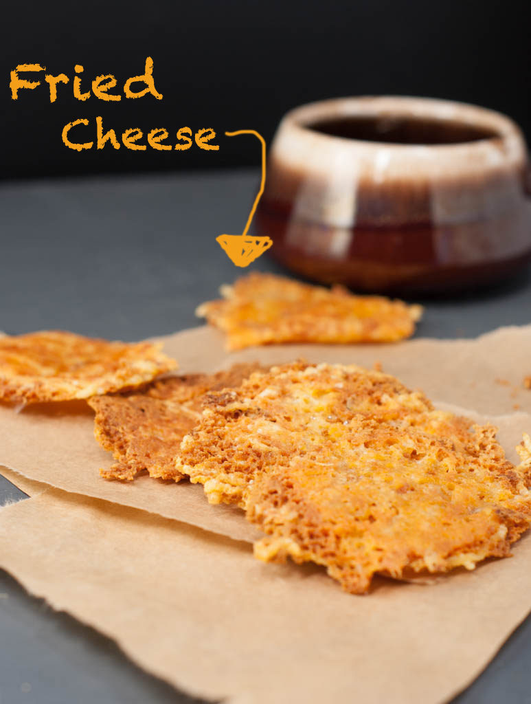 fried cheese crisp