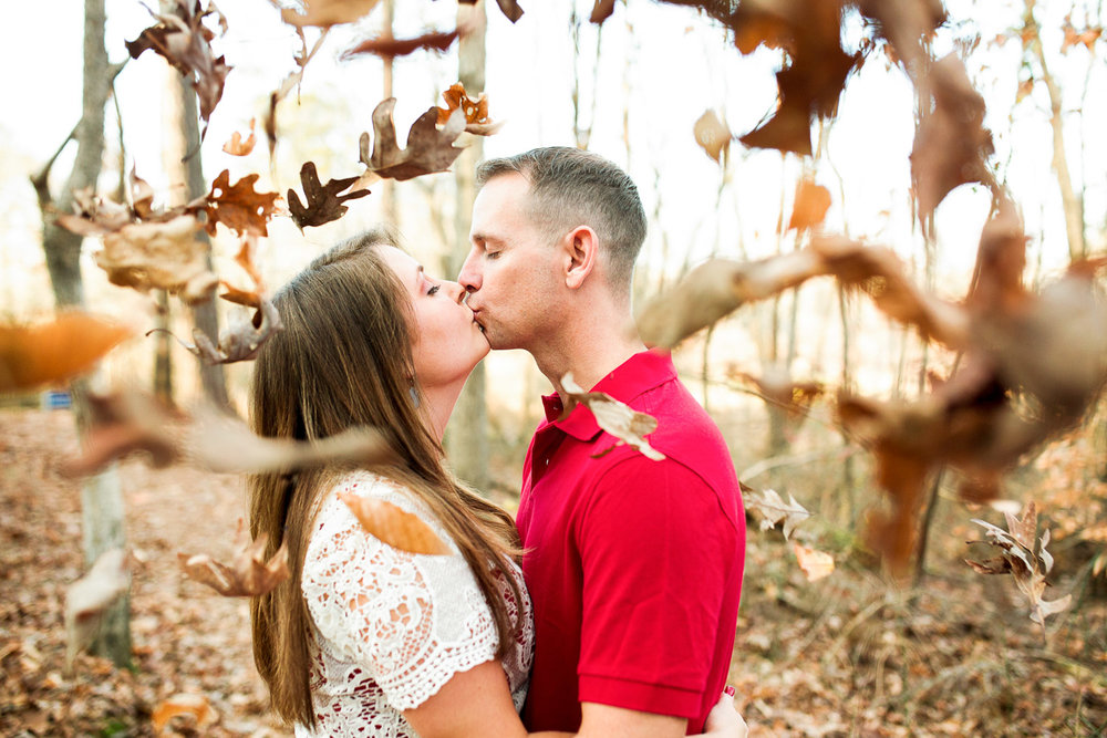 Fall engagement session at Historic Yates Mill in North Carolina