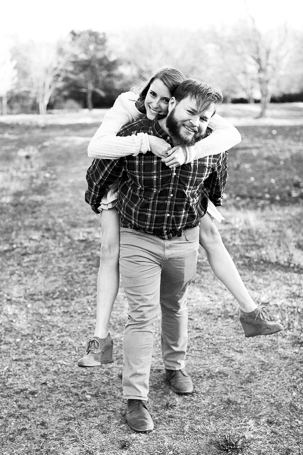 guys give fiance a piggyback ride