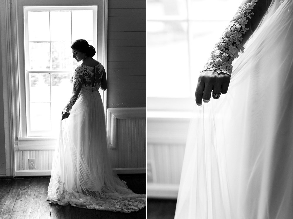 Bridal Portrait at the Mim's House in Holly Spring, NC