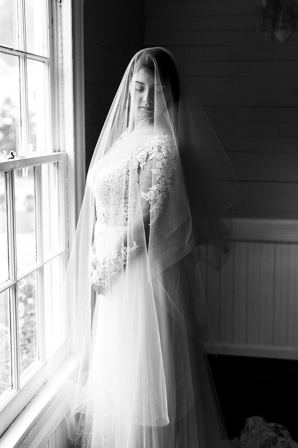 artistic bridal portrait at leslie-alford mim's house holly springs nc