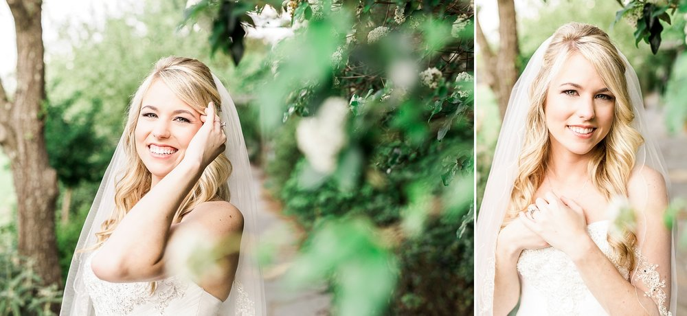 Bridal session at JC Raulston Arboretum in Raleigh NC