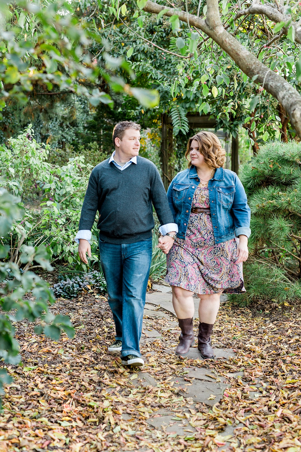 Engagement Session at JC Raulston Arboretum, Raleigh NC
