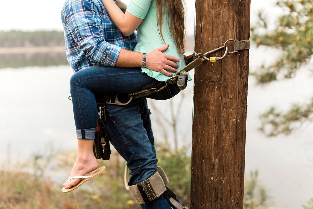 lineman engagement session