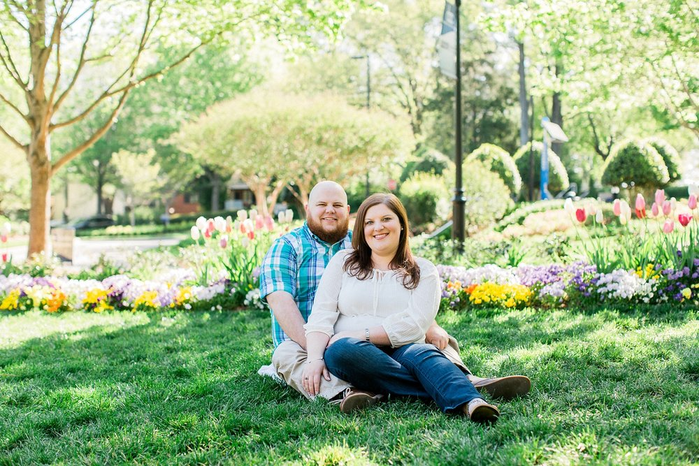 engagement session at the wral azalea garden in raleigh, nc