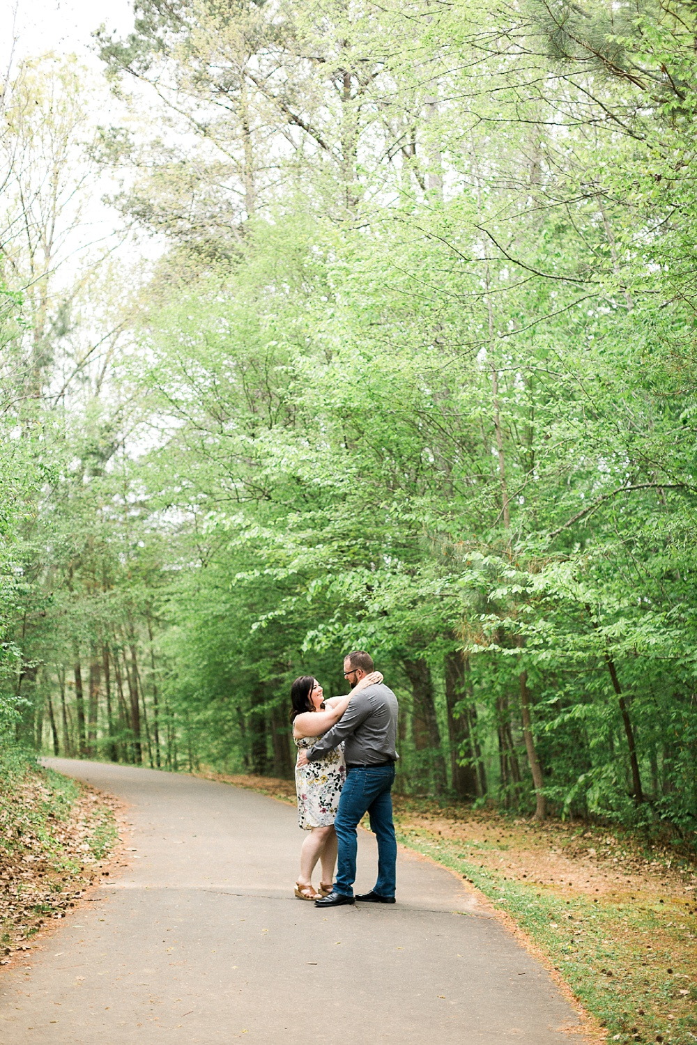 engagement session at carroll joyner park wake forest, nc