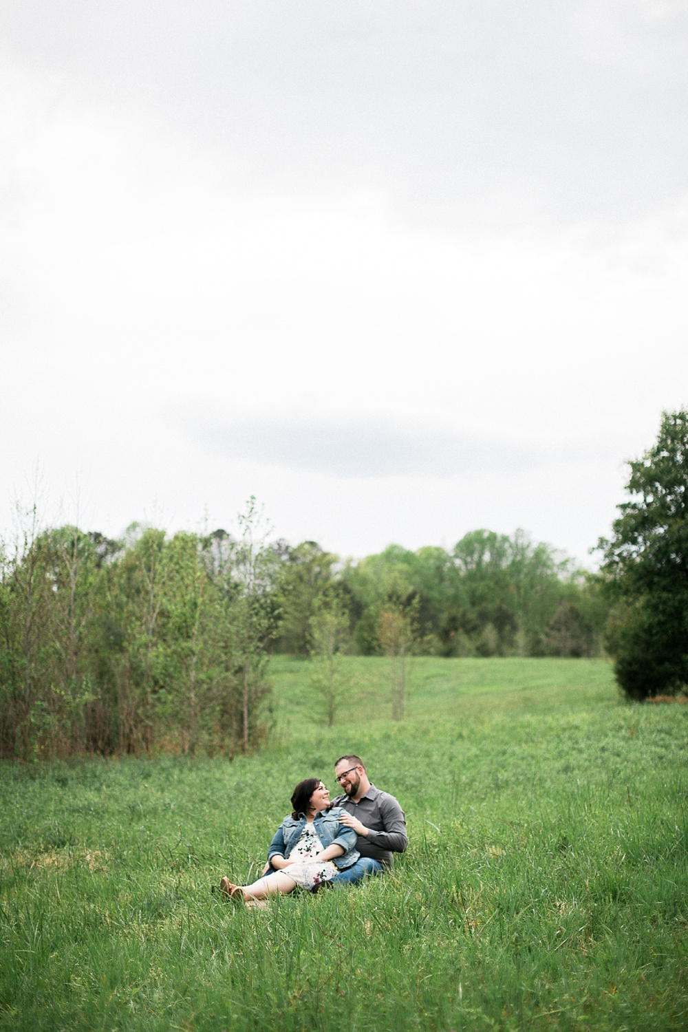 meadow engagement session north carolina