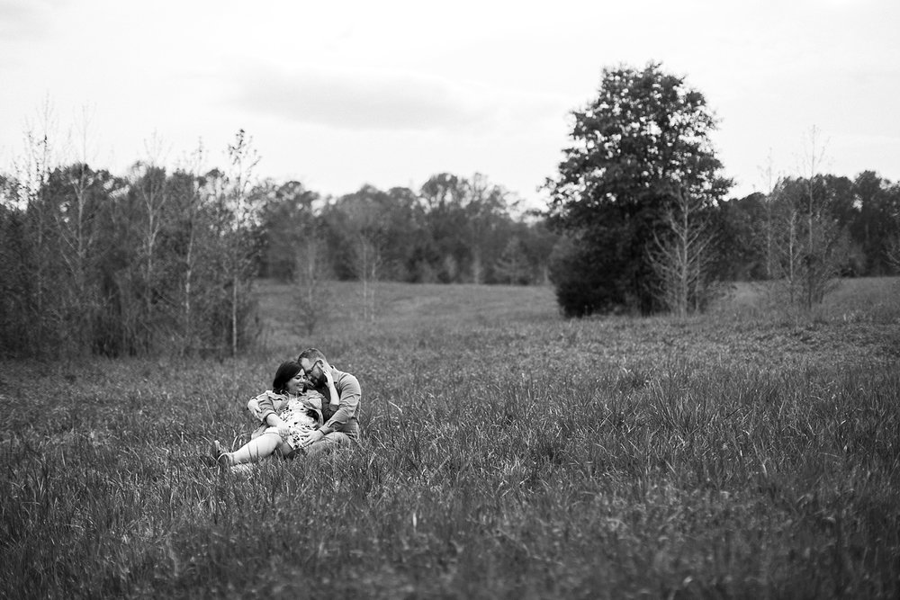 north carolina meadow engagement session