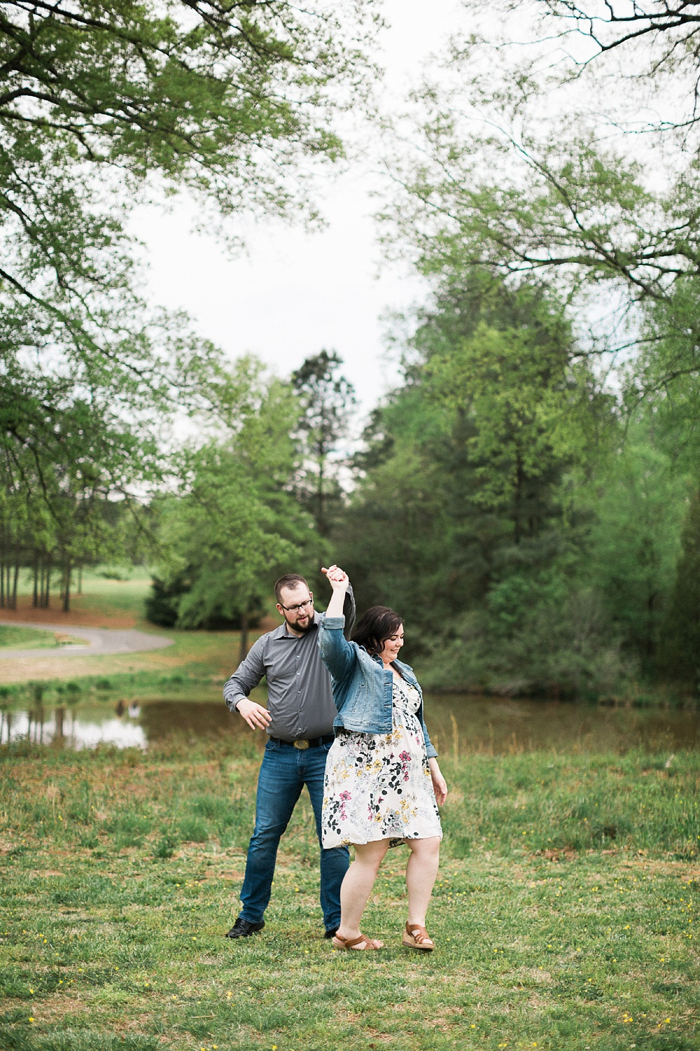 carroll joyner park wake forest, nc engagement session