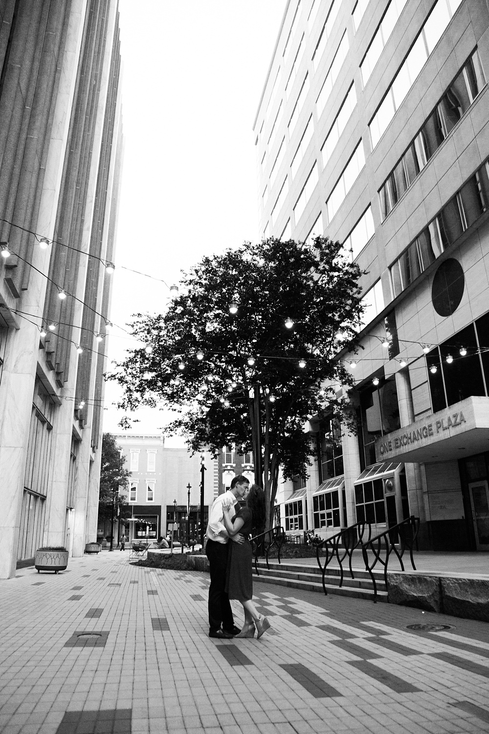 downtown raleigh north carolina engagement session