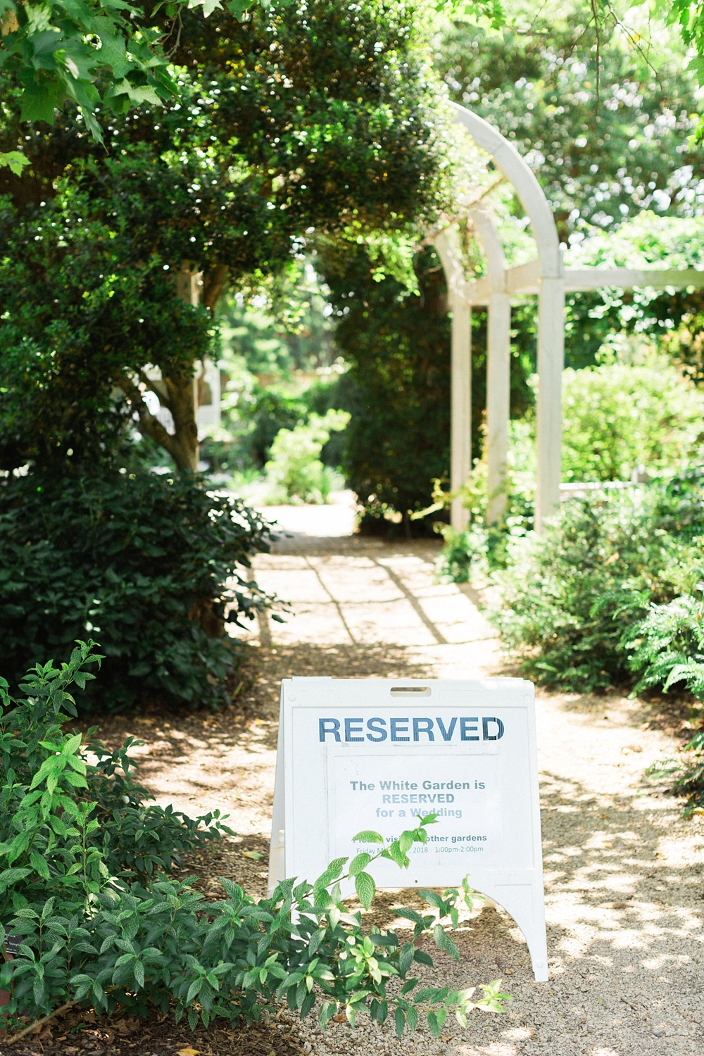 Intimate wedding at JC Raulston Arboretum in Raleigh, NC