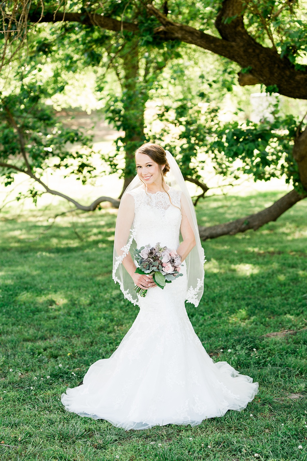bridal portrait under and old oak tree