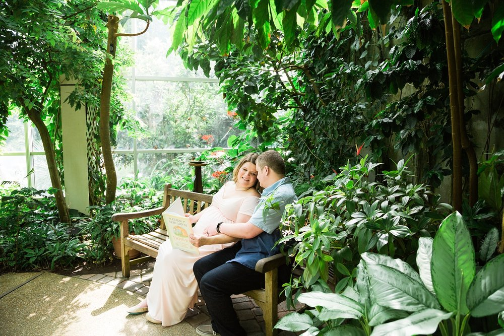 maternity session at the museum of life and science in durham, nc
