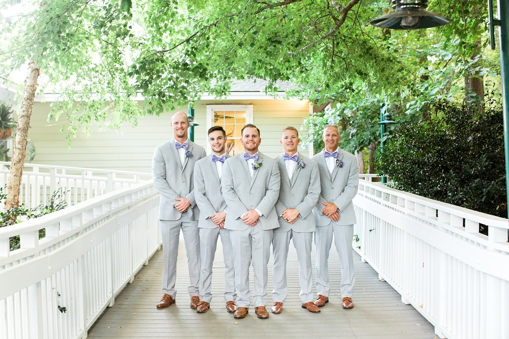 groomsmen on the deck at bass lake park