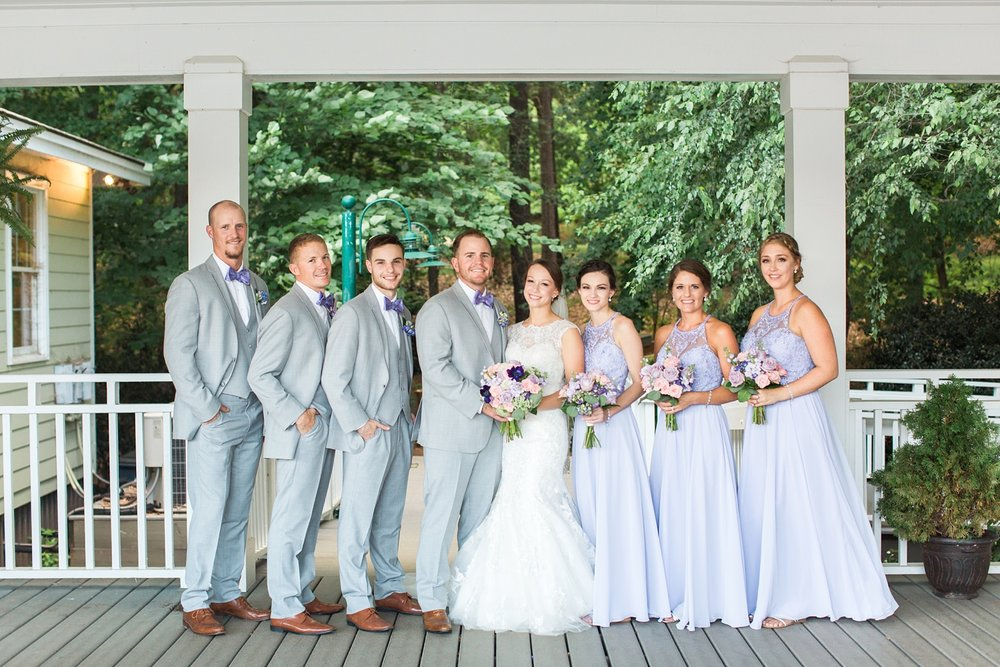bridal party on the deck at bass lake park conference center