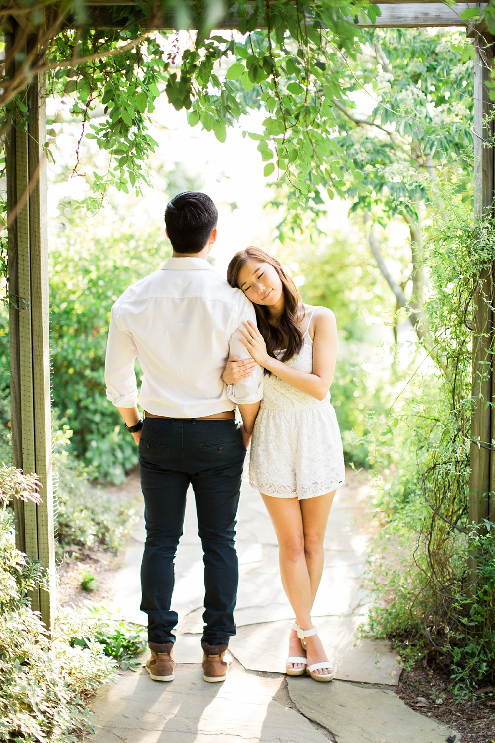 raleigh engagement session, raulston arboretum