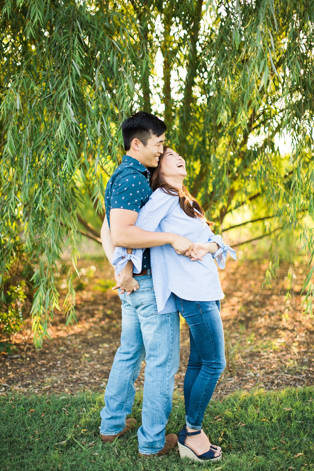 summer engagement session at jc raulston arboretum