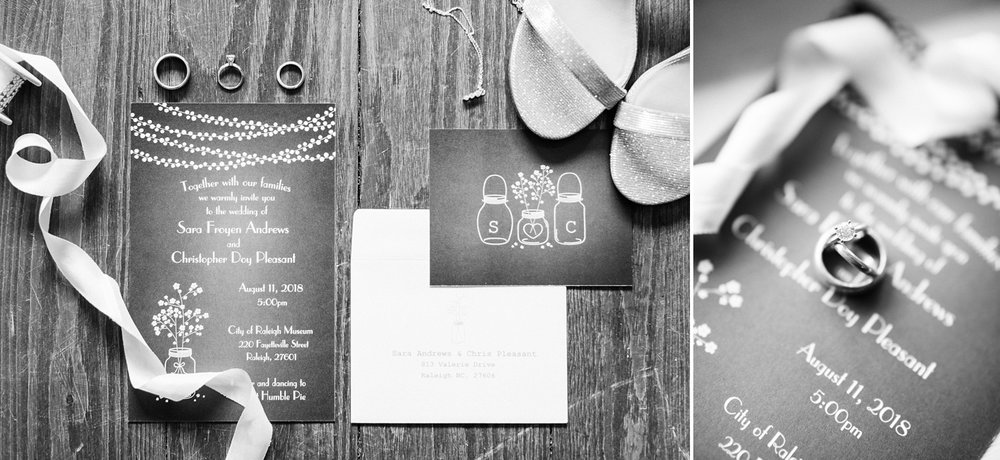rustic wedding invitation lain on old wooden floor