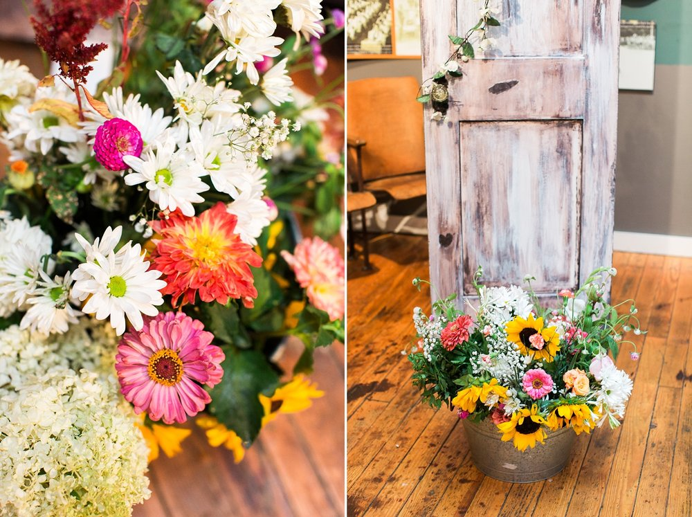 wildflower wedding ceremony flowers from the raleigh farmer's market