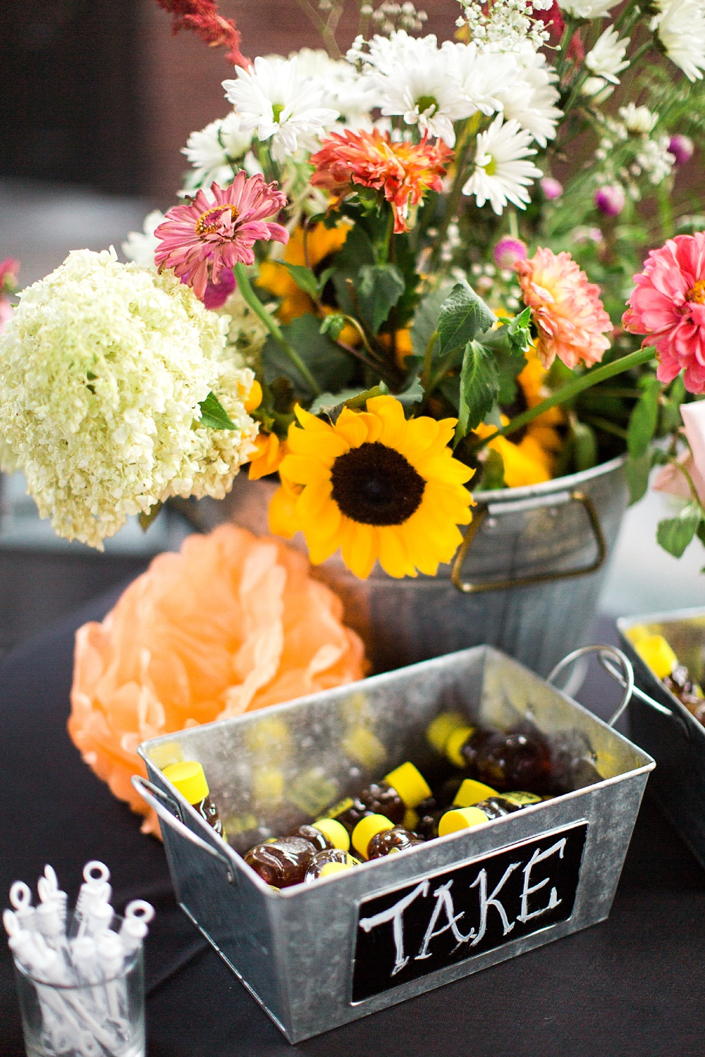 DIY Wedding Reception welcome table