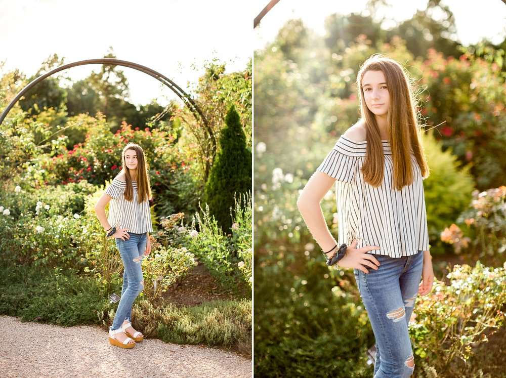 Summer senior session at JC Raulston Arboretum by Rachael Bowman Photography