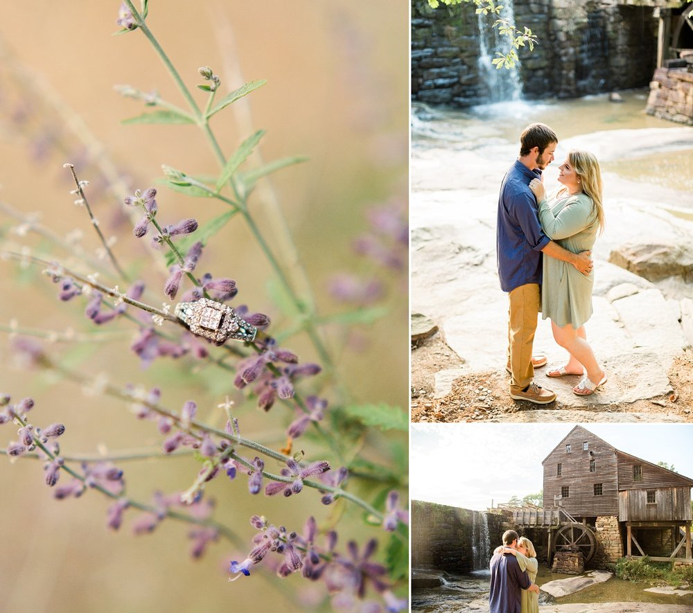 Historic Yates Mill Pond engagement session by Rachael Bowman Photography