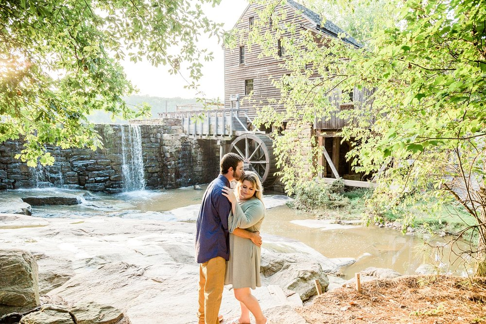 Engagement session at Yates Mill Pond Park by Rachael Bowman Photography