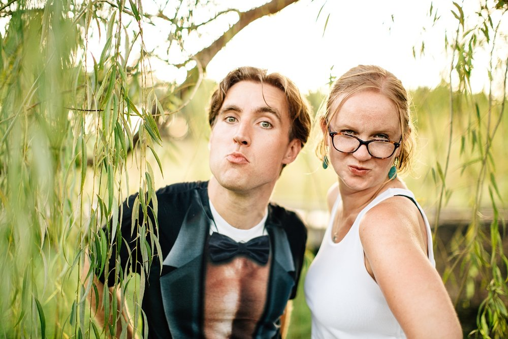 """couple give """"blue steel"""" impression"""