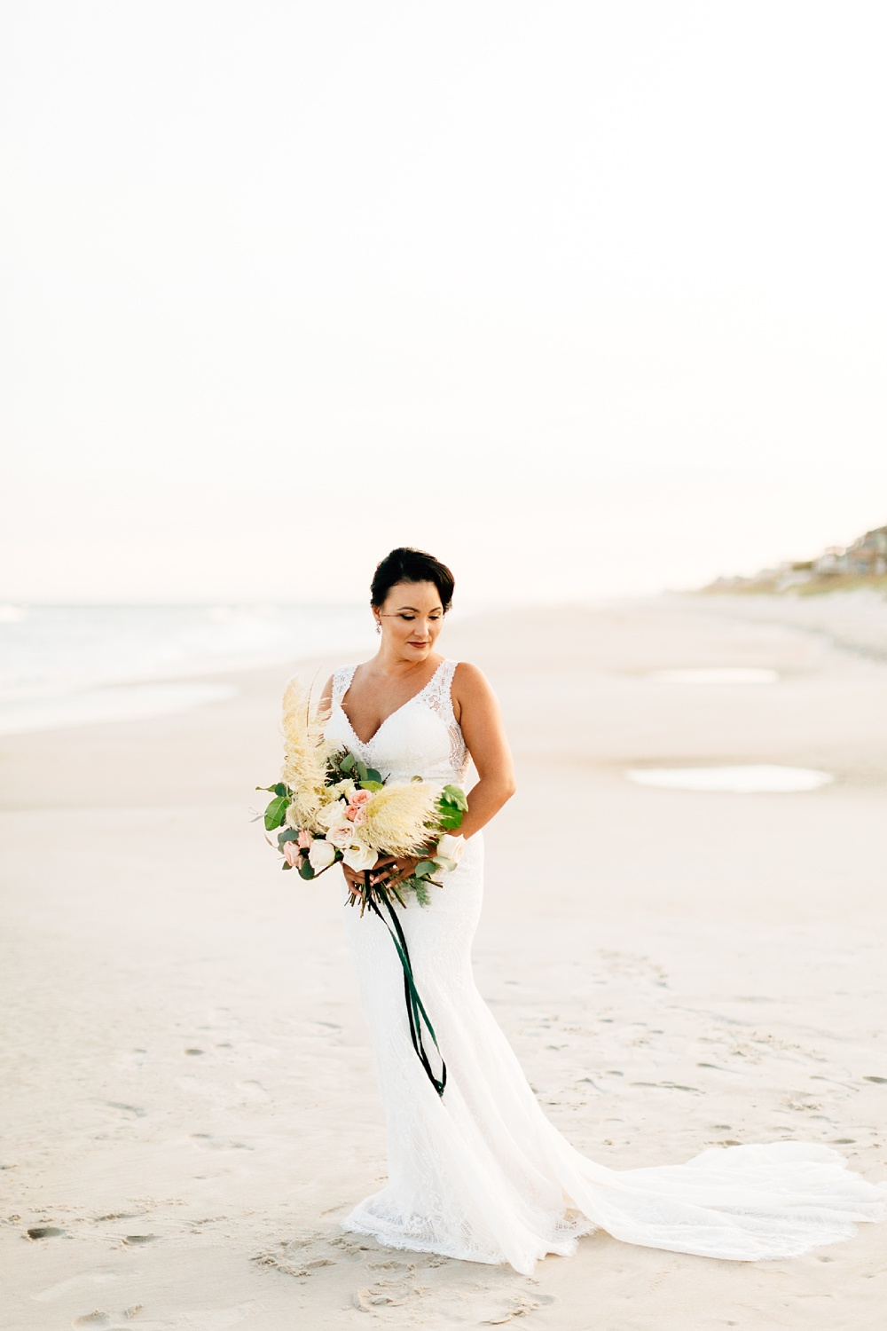 bridal session at topsail island by rachael bowman photography