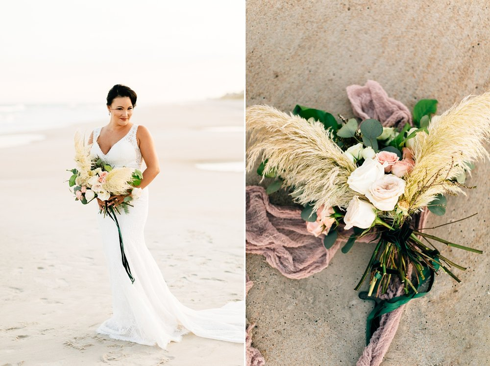 topsail island styled bridal shoot by rachael bowman photography
