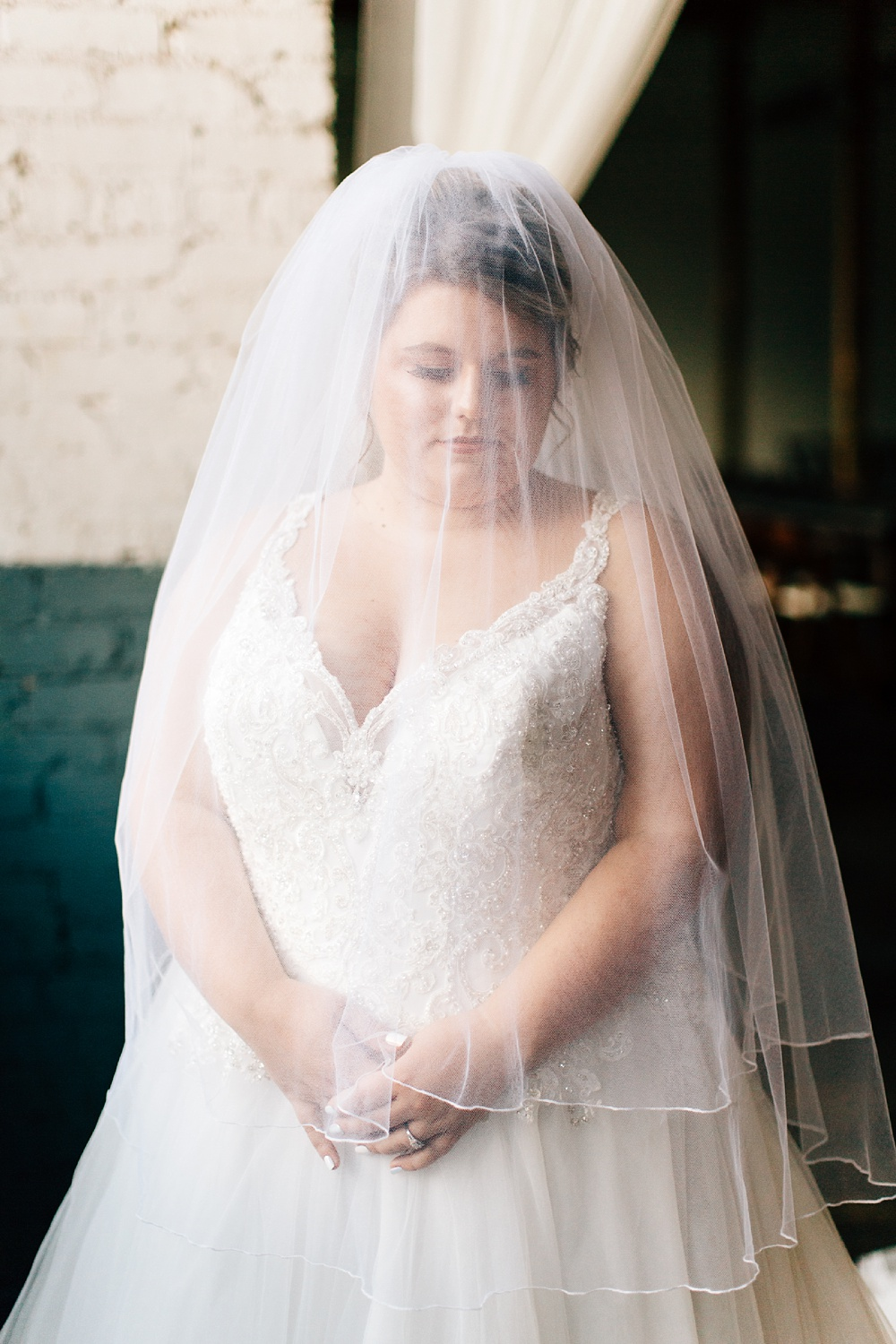 veil bridal portrait by rachael bowman photography