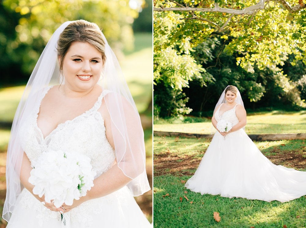 outdoor bridal session in north carolina by rachael bowman photography