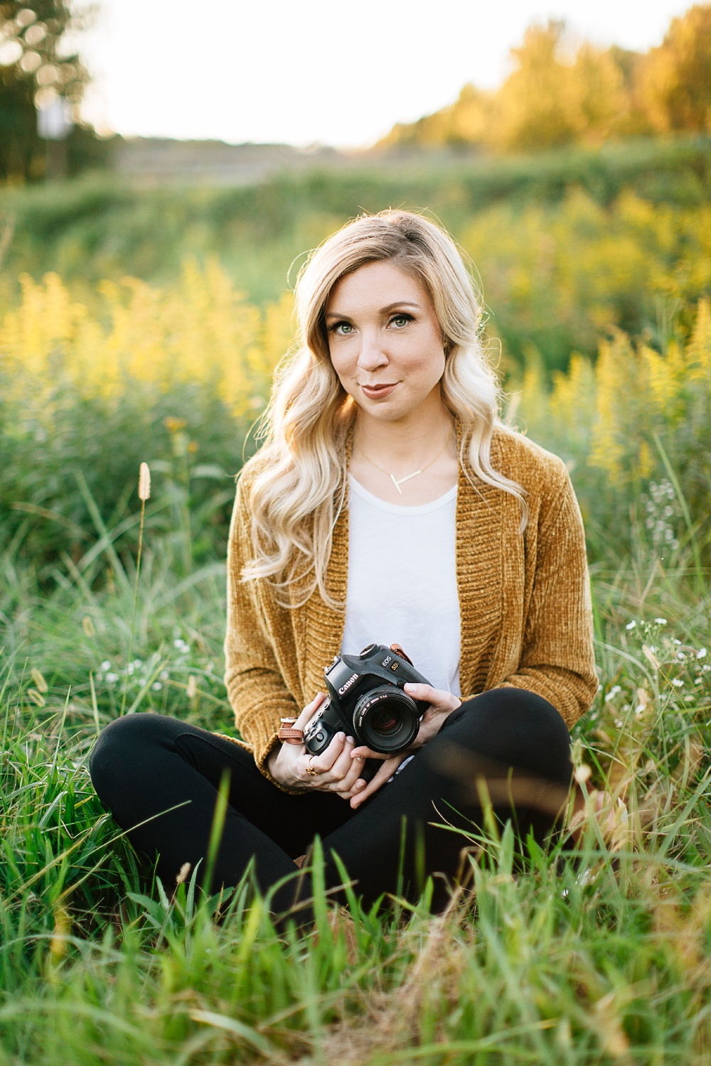 fall portrait session at merritt's pasture in chapel hill by rachael bowman photography