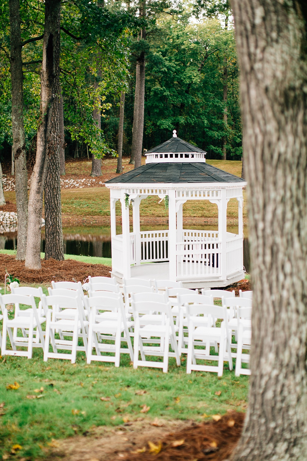 intimate fall wedding in Wake Forest, NC