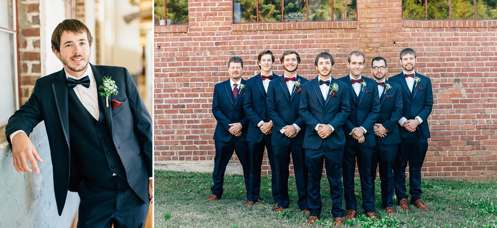 groomsmen photos at forest hall by rachael bowman photography